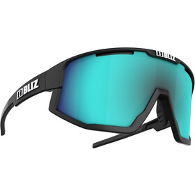 Bliz Fusion Glasses, matt black/smoke with blue multi